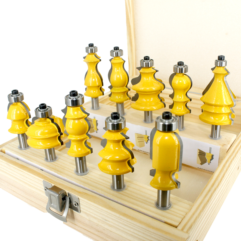 8mm Shank Architectural Molding Router Bits Set Cabinet Door Round Over Set