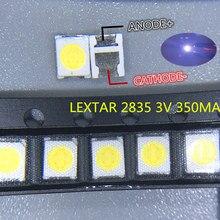 100 pçs lextar led backlight 1210 3528 2835 3v 250ma branco fresco para lg innotek lcd retroiluminação led tv aplicação
