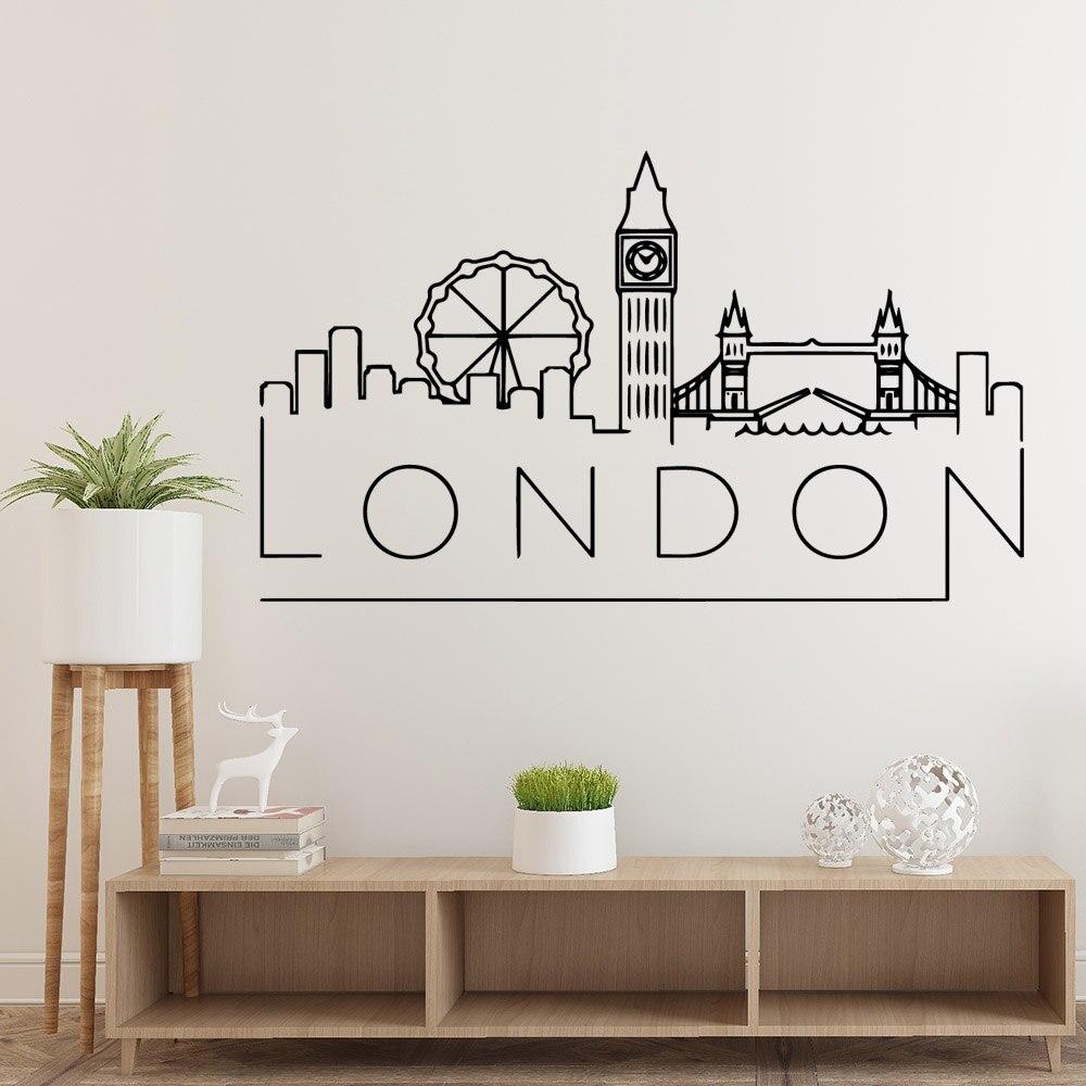 Лидер продаж, лондонские Съемные Виниловые настенные наклейки для детской комнаты, декоративные наклейки, креативные наклейки
