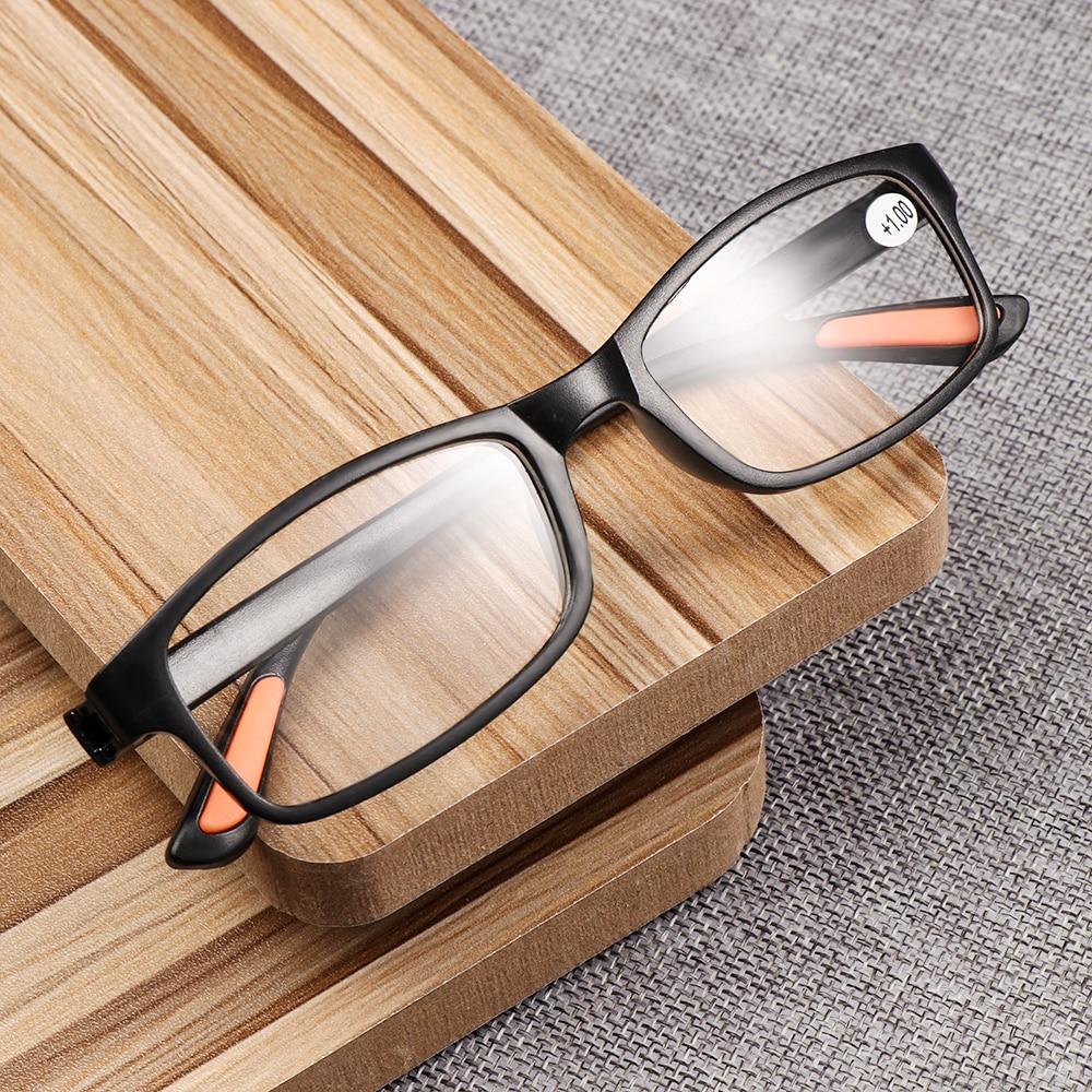 Unisex Ultra-light Reading Glasses Flexible Eyeglasses Magnifying Bifocal +1.00~+4.0 Diopter Elders Glasses Eye Wear Accessories