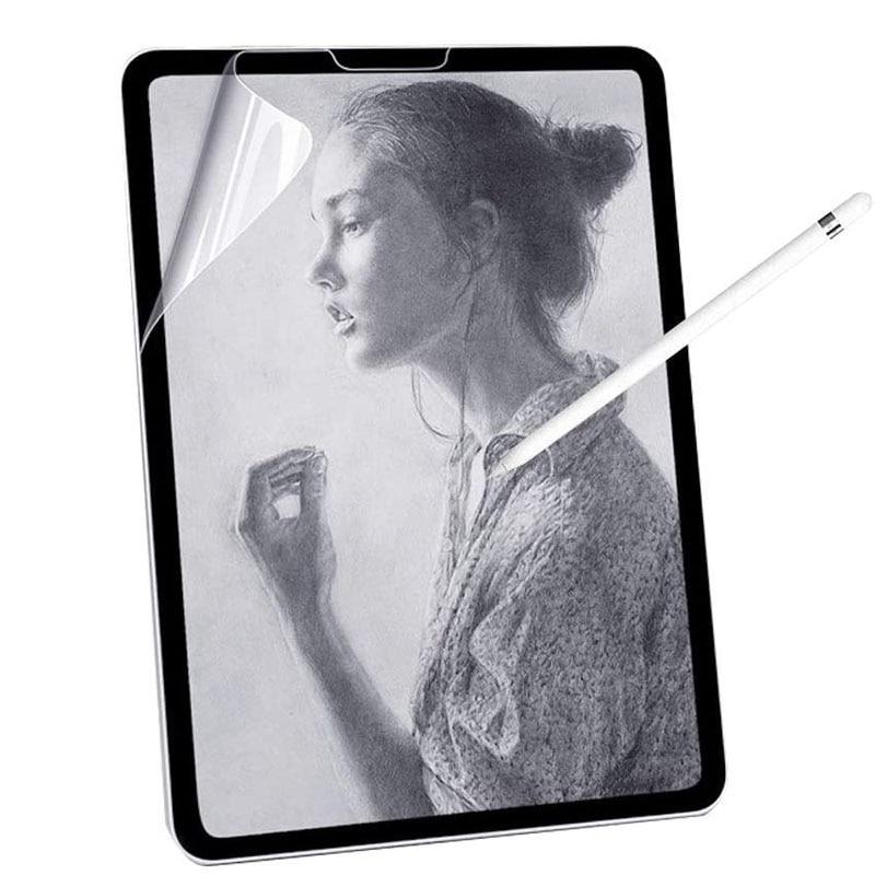 Papel como filme protetor de tela fosco pet pintura escrever para apple ipad 9.7 ar 2 10.5 2020 pro 11 10.2 7th gen mini 12345 filme