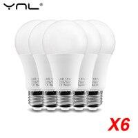 Bombilla LED E27 6W 9W 12W 15W 18W LED lámpara AC220V Smart IC blanco frío/blanco cálido hogar Bombilla ampolla bombillas LED foco