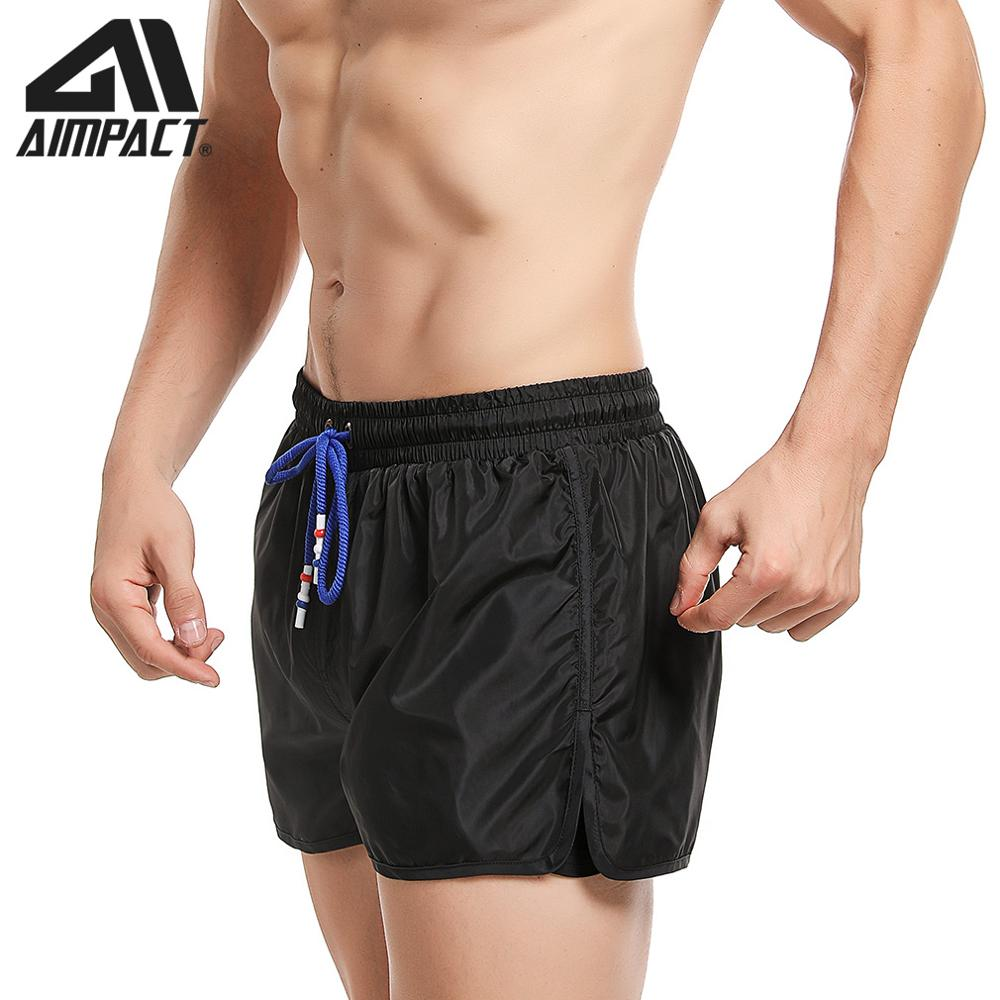 Men's Swim Shorts  Quick Dry Beachwear Board Short Bath Suit Lining Liner Shorts With Drawstring For Sportsman By AMPACT AM2255