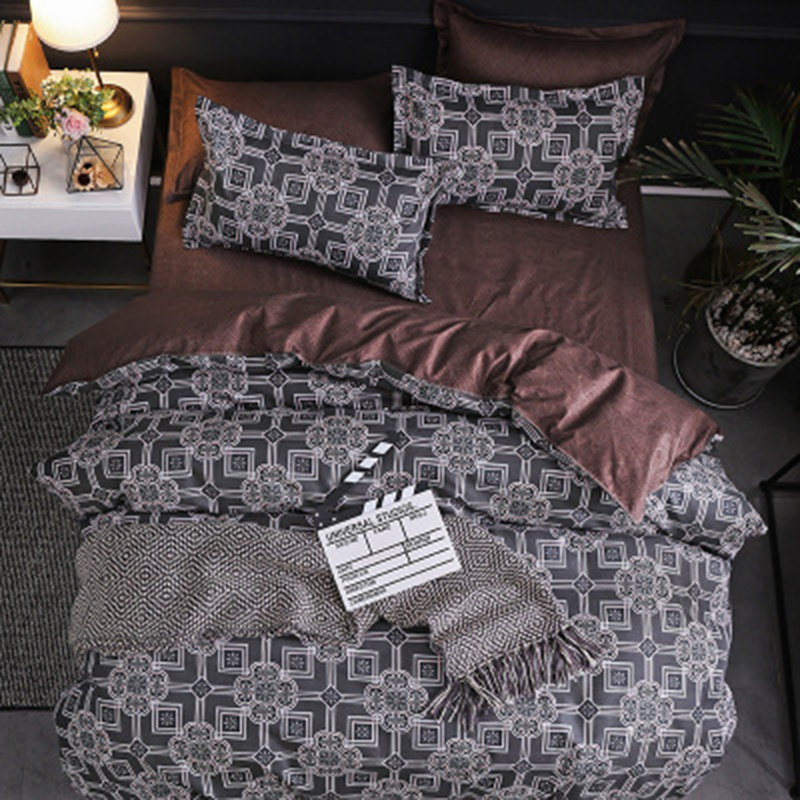 New Arrival Bedroom Classic Style Soft And Comfortable Double Sided Simple Bed Cover Quilt Cover Bedding