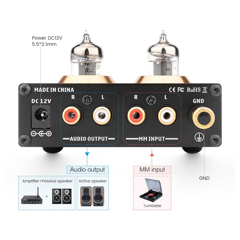 AIYIMA 6J2 Tube à vide MM Phono platine vinyle préamplificateur HiFi stéréo phonographe préampli amplificateur vinyle lecteur de disque pour la maison bricolage - 4
