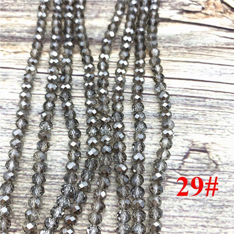 148 шт 2x3 мм/3x4 мм/4x6 мм хрустальные бусины Рондель граненые стеклянные бусины для изготовления ювелирных изделий DIY женский браслет ожерелье ювелирные изделия - Цвет: NO.29
