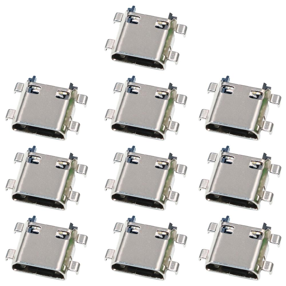 10 PCS Charging Port Connector for Samsung Galaxy J7 (2015) / J700 / J700F / J7 (2016) / J710 / J710F / J5 (2016) / <font><b>J510</b></font> image