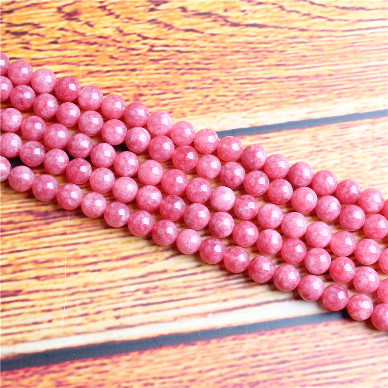 Rhodochrosite Natural Stone Bead Round Loose Spaced Beads 15 Inch Strand 4/6/8 / 10mm For Jewelry Making DIY Bracelet Necklace