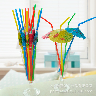 Disposable Color Tiny Umbrella Hua Zhi San Straw Cocktail Fruit Juice Beverage Decoration Bar Supplies Party 20