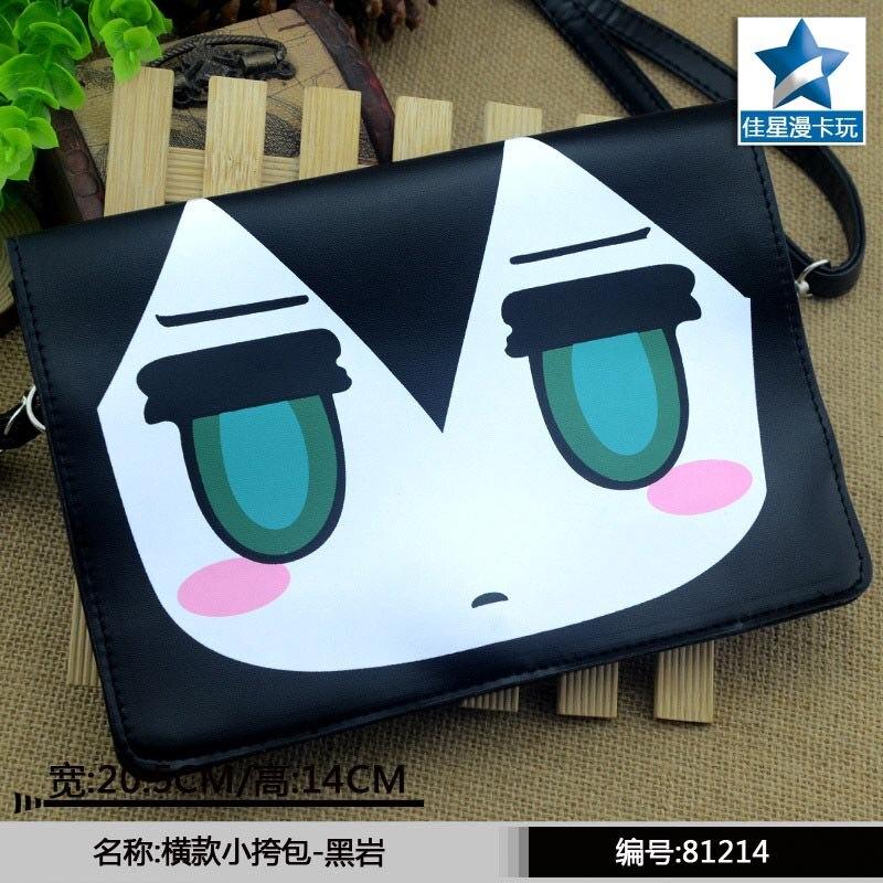Anime Black Rock Shooter Mato Kuroi Flap Crossbody Satchels/High Quality PU Single Handbag/Mini Messenger Bag/Shoulder Bag