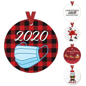 2020 Christmas Tree Ornament-Faceless Santa Claus Hanging Ornaments Toilet Paper Ornament Christmas Quarantine Gifts Presents- image