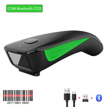 NETUM C740 Scanner Wired 1D CCD Barcode Scanner USB Bluetooth Pocket QR Bar code Reader for IOS Android Windows 1D Code Scanner
