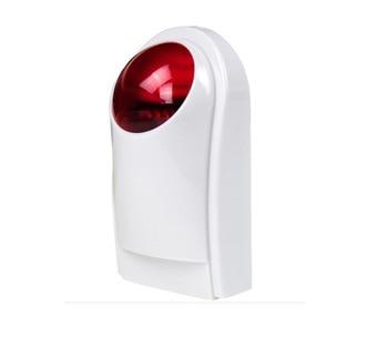цена на Home Alarm Wireless Outdoor Strobe Flash Siren For GSM WiFi Home House Burglar Wireless Alarm System