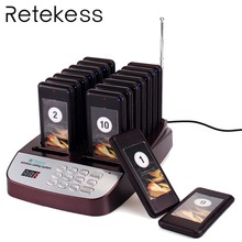 Retekess T113S Restaurant Pager Wireless Paging Queuing System 16 Call Coaster Pagers Buzzer 999 Channel Equipments