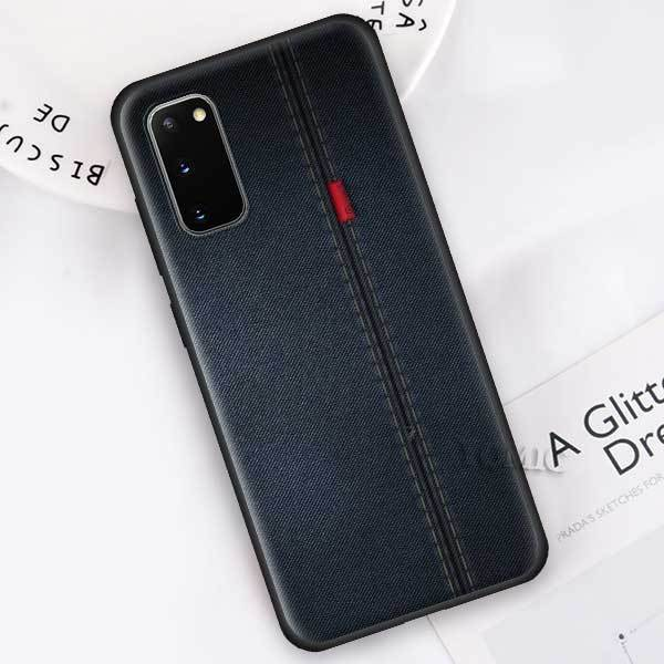 Black Case for Samsung Galaxy S20 Ultra 5G S10 Lite S10e S9 S8 Note 8 9 10 Plus Soft Phone Cover Jeans Style Blue Denim