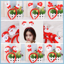 ZOTOONE Christmas Headband Antlers Tiara Masquerade COS Snowman Santa Claus Decoration Supplies I
