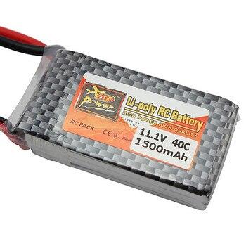 ¡Producto en oferta! Batería LiPo ZOP Power de 11,1 V 1500Mah 3S 40C MAX 60C T, enchufe para coche de control remoto, avión, pieza de helicóptero RC, accesorios de juguete