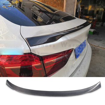 F16 X6 Spoiler Carbon Fiber Rear Wing Trunk Lip Spoiler For BMW X6 F16 car body kit 2014-UP image