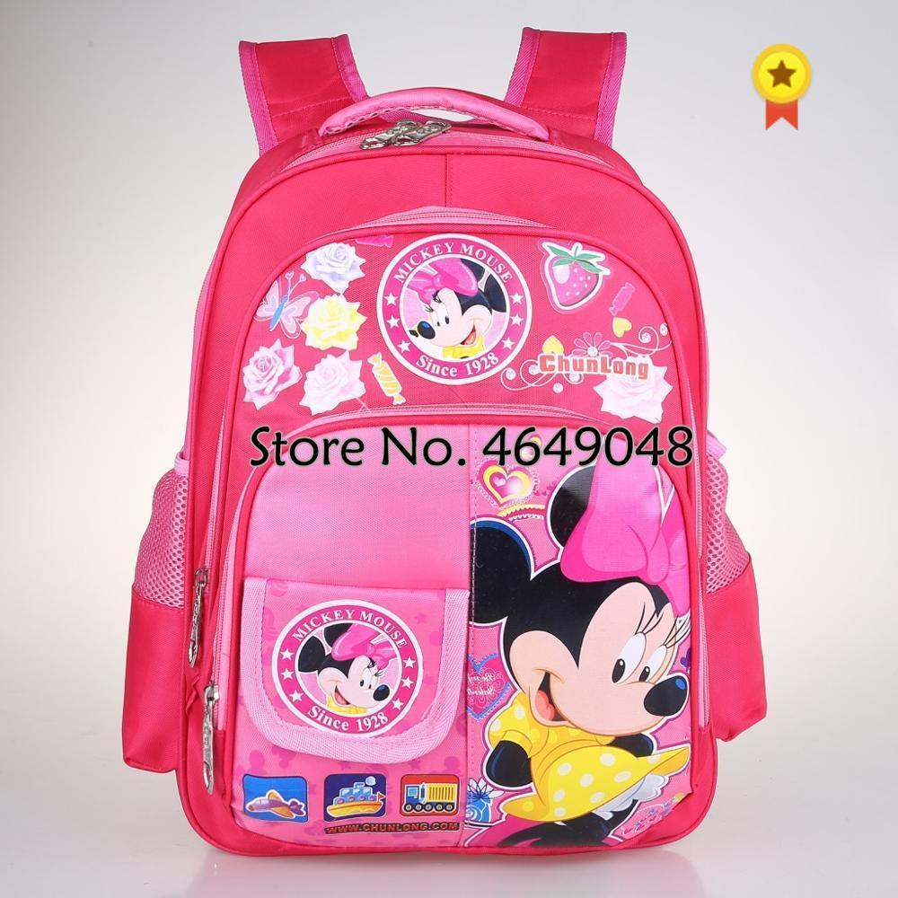 Disney princess Mickey mouse 1-3 grades primary school children's cartoon school bag boy girl minnie shoulder book bag backpack