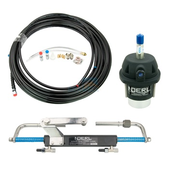 Hydraulic Boat  Outboard Steering Marine Steering System Kit Cylinder Hydraulic Oil Helm 90HP