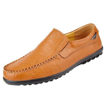 SAGACE męskie buty do biura na co dzień okrągłe głowy groszek buty męskie garnitur buty na co dzień buty dla wygodnych nowy product tanie i dobre opinie RUBBER Wiosna jesień leather shoes Podstawowe Pasuje prawda na wymiar weź swój normalny rozmiar Oświetlony Oddychająca