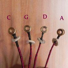 Тонкие вертикальные двойные басовые струны(3/4-4/4) 1 полный набор QY-006ACTUAL инструмента