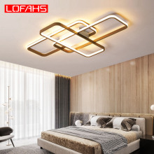 LOFAHS modern led ceiling light for living room bedroom aluminum body remote control home ceiling lamp luster Kattokruunut