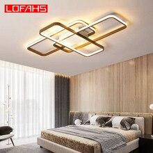 LOFAHS سقف ليد حديث ضوء لغرفة المعيشة غرفة نوم الألومنيوم الجسم التحكم عن بعد المنزل مصباح السقف بريق Kattokruunut