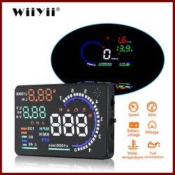 WiiYii A8 hud head up display obd2 ii  euobd Overspeed Warning System Projector Windshield Voltage Alarm universal car hud