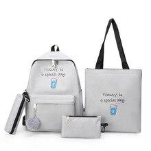 Children School Bags set Girls 4 pcs Kids Primary cartoon backpack princess Orthopedic Backpack schoolbag kids Mochila Infantil