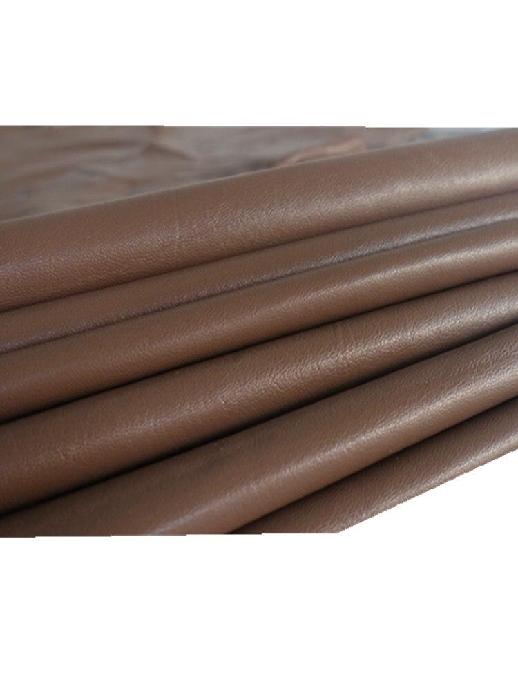 Легкий кофе супер книга супер мягкая овечья кожа 0,5-0,9 мм кожа одежда ткань подкладка швы патч отверстие кожаные перчатки кожа h