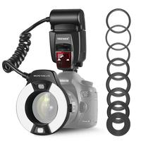 Neewer Macro TTL Ring Flash Light AF Assist Lamp for Canon E TTL/TTL EOS5D MarkII/EOS6D/7D/70D/60D/60Da/700D/650D/600D/400D/350D