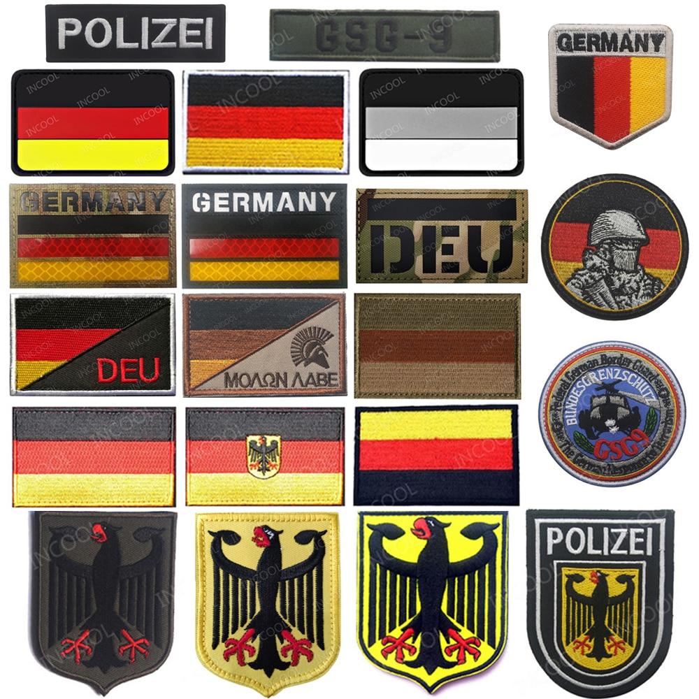 Инфракрасные Светоотражающие нашивки с немецким y-образным флагом, военные нашивки с орлом, тактические вышитые знаки с немецкой эмблемой ...