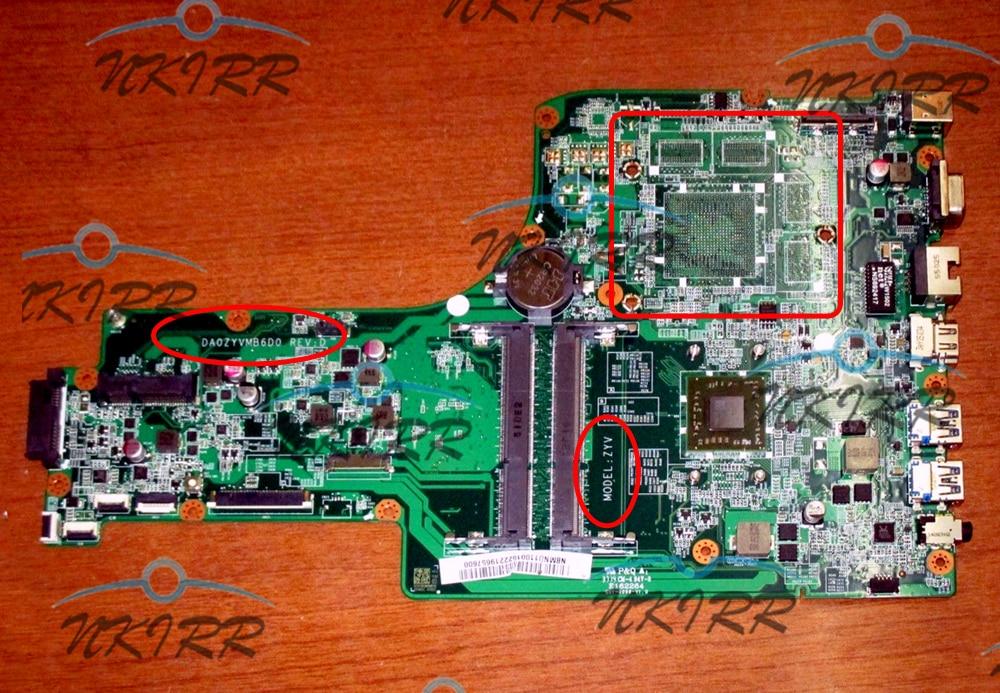 DA0ZYVMB6D0 ZYV NBMND11003 NB.MND11.003 A4-6210M CPU DDR3 motherboard for ACER Aspire E5-721 E5-721G