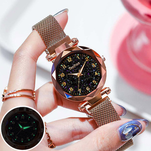 Magnetic Starry Sky Women Wrist Watch 2019 For Ladies Top Brand Luxury Watch Rose Gold relogio feminino Female Clock reloj mujer(China)
