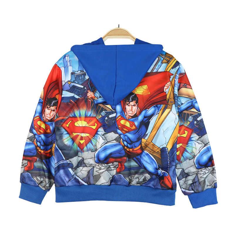 Nuevo vengador SpiderMan Batman niños niñas invierno primavera otoño cremallera Sudaderas niños sudaderas suéter ropa de niños