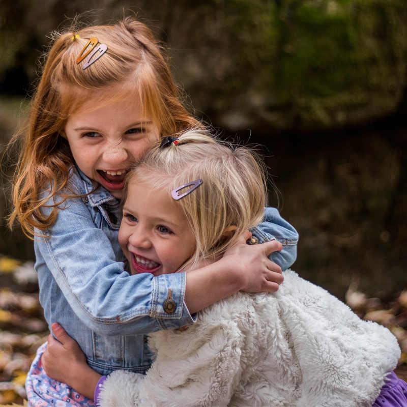Europeu e americano crianças cor forma da gota 18 cor 80 pces cozimento pintura clipe de cabelo borda clipe bang jaqueta