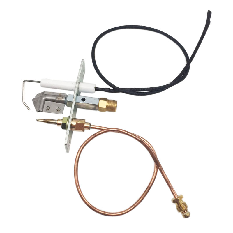 Gas Universal Pilot Burner With 400mm Piezo Wire And Thermocouple M9X1 Thread