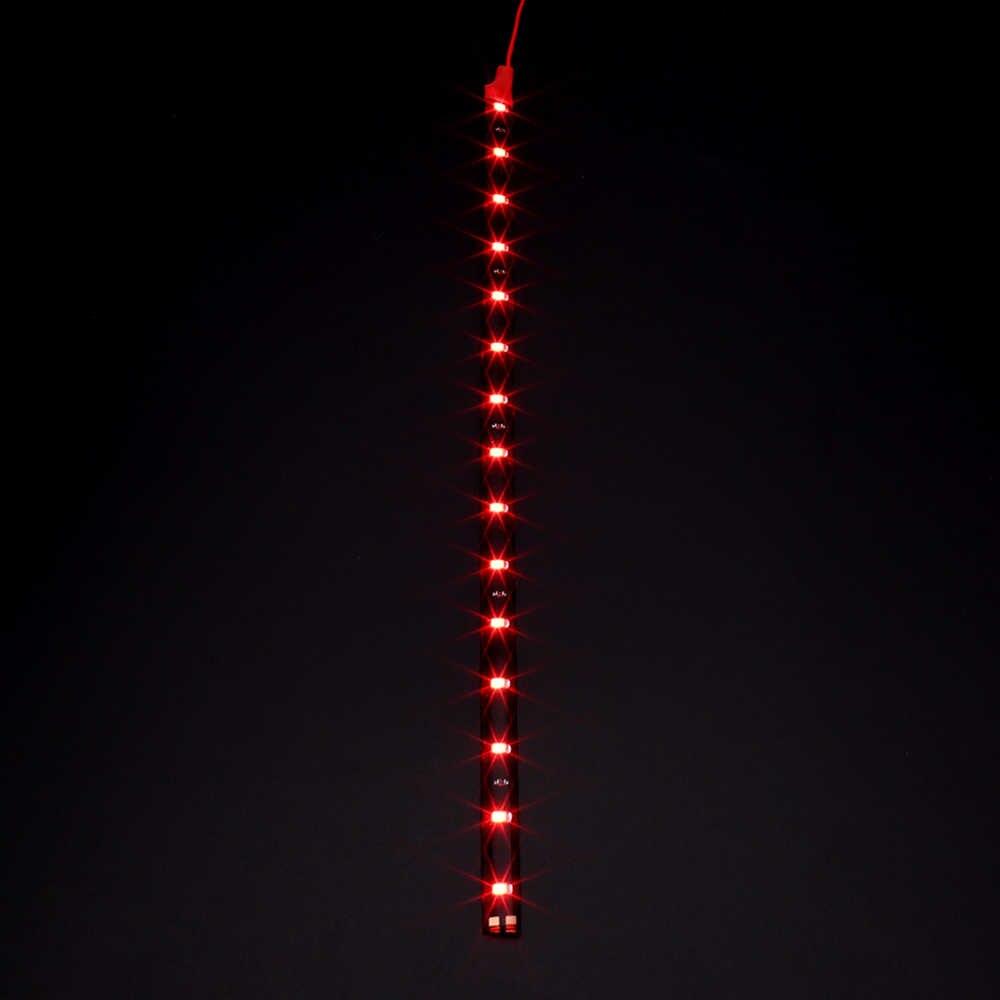 """Samochód stylizacji 30cm samochodów elastyczne taśmy LED światła wysokiej mocy 12V 11.8 """"15SMD wodoodporne światła do jazdy dziennej LED ozdobna do samochodu DRL"""