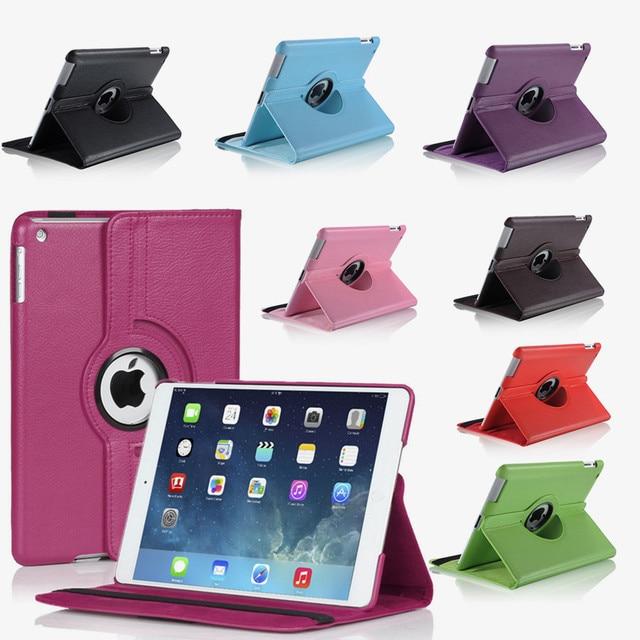 Чехол для iPad Mini 3 2 1, чехол из искусственной кожи, силиконовая Мягкая задняя крышка, вращение на 360, откидная подставка, защитный чехол для iPad ...