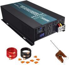 Inversor de energía para coche, 24V, 220V, 5000W, onda sinusoidal pura, Panel Solar de 12V/24V/48V CC a 120V/230V/240V, Control remoto de CA