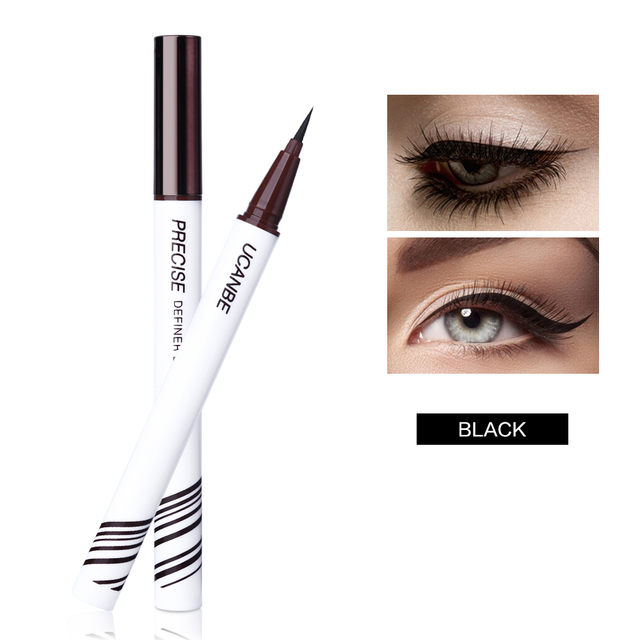 UCANBE Liquid Eyeliner Pencil Black Brown Eye Liner Pen Waterproof Long Lasting Makeup Ultra-fine Tip Non-fading Eyes Cosmetics 3