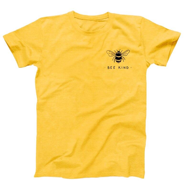 Футболка женская, с принтом в виде пчел и карманом Tumblr Save The Bees Graphic, хлопковые футболки большого размера с o-образным вырезом, Прямая поставка