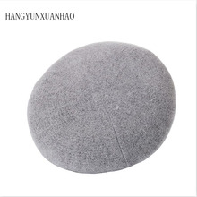 HANGYUNXUANHAO Women Beret Vogue Hat For Winter Female Knitted Cotton Wool Hats Cap Autumn 2019 Brand New Women's Hats Caps free shopping 2016 fashion wool winter hats for women winter cap thickening thermal knitted hat female caps