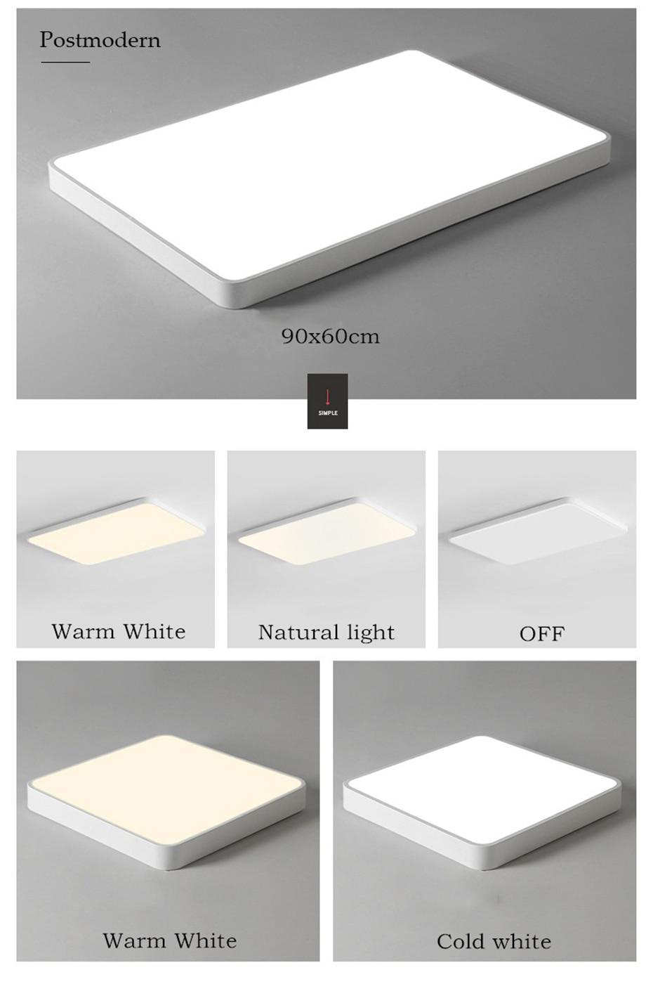 Ouro preto branco ultra-fino 5cm led luz