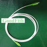 Fiber Patch Cord Jumper White Cable SC/APC-SC/APC SM Simplex GoodFtth 1-15m