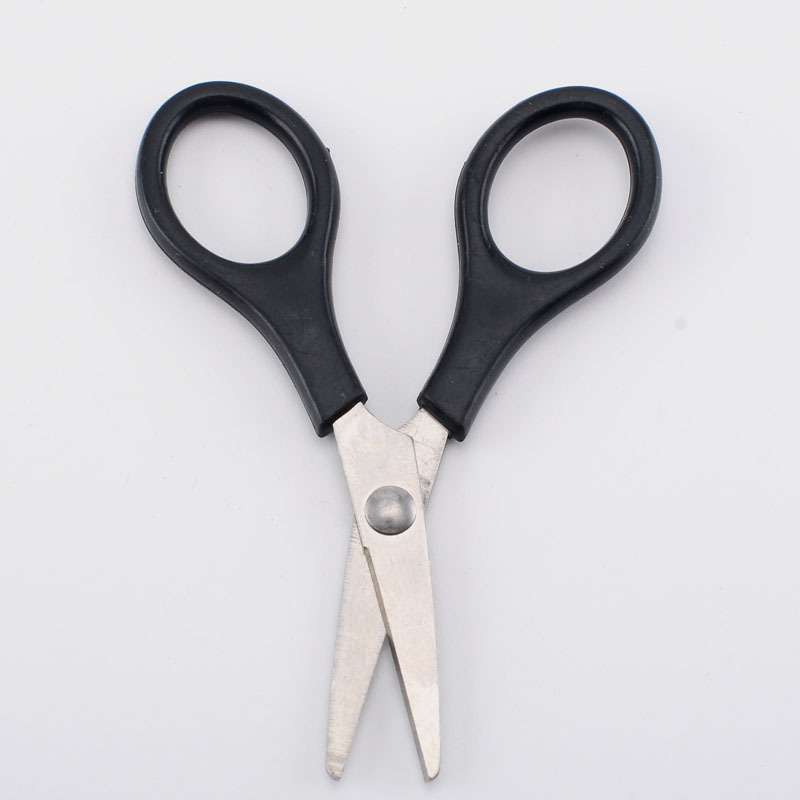 SOURCE Manufacturers Direct Selling Children Connecter Scissors Children Safe Handmade Small Nail-scissor Plastic Handle Mini Pa
