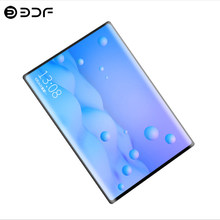 10,1 pulgadas Tablet PC 2.5D pantalla de acero Android 7,0 3G/4G llamada telefónica 4 GB/64 GB Octa Core Wi-Fi Bluetooth Dual SIM Tablet + teclado(China)