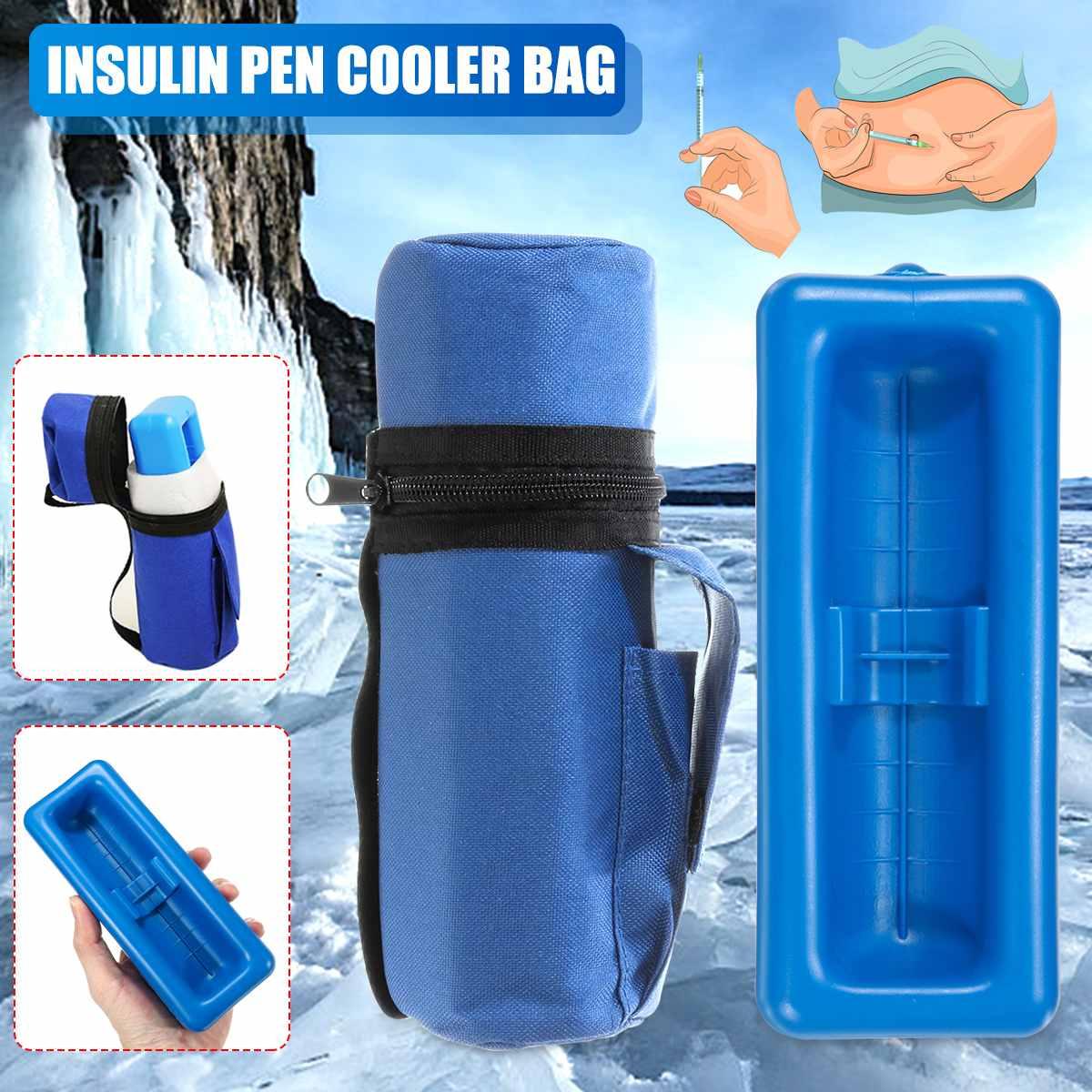 Aequeen Portable Medicine Diabetic Insulin Pouch Cooler Insulin Pen Cooler Bag Non-toxic Travel Case Cooler Pill Box Ice Bag
