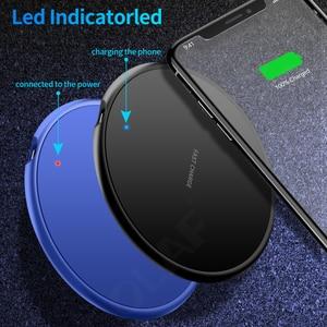 Image 2 - Caricabatterie Wireless veloce 10W per iphone 11 8 Plus Qi Pad di ricarica Wireless per Samsung S10 Huawei P30 Pro adattatore per caricabatterie per telefono